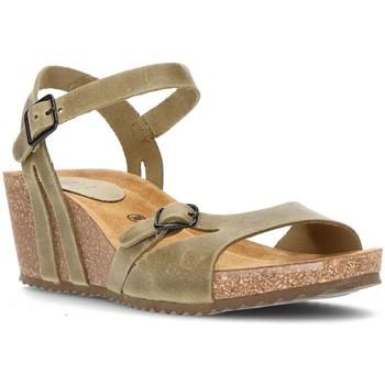 Chaussures Femme Jmksport & ME Interbios W confortables sandales compensées KAKI