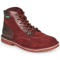 Chaussures Femme Boots Kickers ORILEGEND Bordeaux foncé