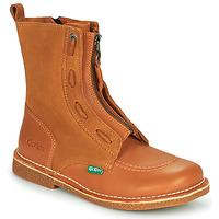 Chaussures Femme Boots Kickers MEETICKROCK Camel