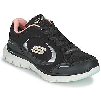 Chaussures Femme Baskets basses Skechers FLEX APPEAL 4.0 Noir / Rose