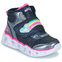 Chaussures Fille Baskets montantes Skechers HEART LIGHTS Marine / LED