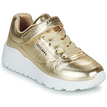 Chaussures Fille Baskets basses Skechers UNO LITE Doré