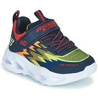 Chaussures Garçon Baskets basses Skechers VORTEX-FLASH Bleu / Orange