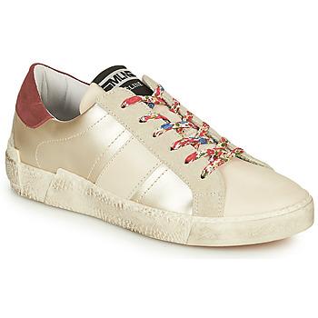 Chaussures Femme Baskets basses Meline NKC1381 Blanc / Fleurs