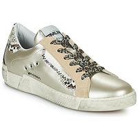 Chaussures Femme Baskets basses Meline NK139 Doré / Python