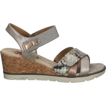 Chaussures Femme Sandales et Nu-pieds Relife Sandales Braun/Silber