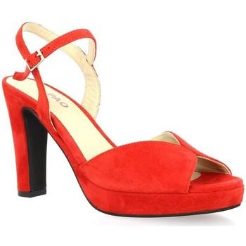 Chaussures Femme Sandales et Nu-pieds Vidi Studio Nu pieds cuir velours rouge