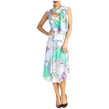 Vêtements Femme Robes Georgedé Robe Arielle mousseline imprimée Multicolore