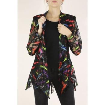Vêtements Femme Vestes Georgedé Veste Vanille en dentelle imprimée Multicolore