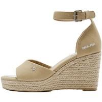 Chaussures Femme Sandales et Nu-pieds Pepe jeans Compensées en toile  Maida bass Ref 53030 Sand Beige