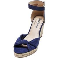Chaussures Femme Sandales et Nu-pieds Pepe jeans Compensées  Maida Peach Ref 53032 Navy Bleu