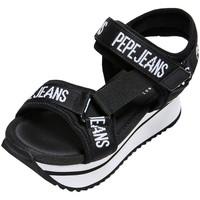 Chaussures Femme Sandales et Nu-pieds Pepe jeans Compensées  Fuji Pepe Ref 52996 Black Noir