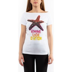 Vêtements Femme T-shirts manches courtes Love Moschino DONNA Blanc