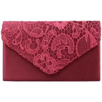 Sacs Femme Sacs porté main A Découvrir ! Petit sac toile satinée à rabat brodé Bordeaux Multicolor