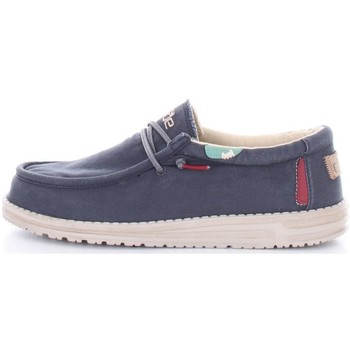 Chaussures Homme Mocassins Hey Dude WALLY WASHED Bleu