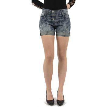 Vêtements Femme Shorts / Bermudas Please p17h 1670 blue denim bleu