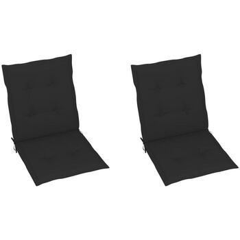 Maison & Déco Galettes de chaise Vidaxl Coussin de chaise 100 x 50 x 3 cm Noir