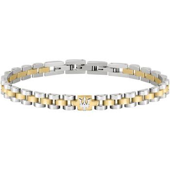 Montres & Bijoux Homme Bracelets Maserati Bracelet  en Acier Bicolore Gris