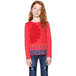 Vêtements Fille T-shirts manches longues Desigual Top T-Shirt Manches longue Fille Oklahoma Rouge Rouge