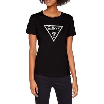 Vêtements Femme T-shirts manches courtes Guess T-shirt Femme W83I16 Noir Noir