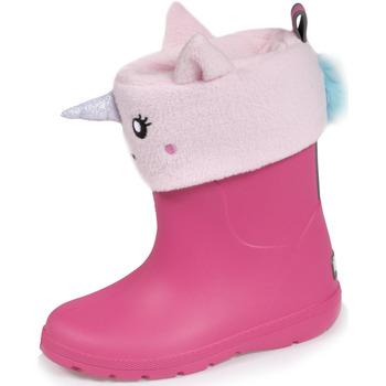 Chaussures Enfant Bottes de pluie Isotoner Bottes de pluie avec chaussette Rose Clair