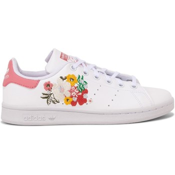 Chaussures Fille Baskets basses adidas Originals Stan Smith Junior Blanc