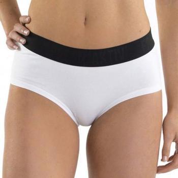 Sous-vêtements Femme Shorties & boxers Freegun Boxer Femme Coton SCASS1 Blanc ceinture noire AKTIV Blanc