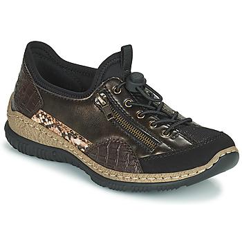 Chaussures Femme Baskets basses Rieker ALINDA Bronze / Noir