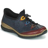 Chaussures Femme Derbies Rieker ENCORRA Bleu / Rouge / Jaune