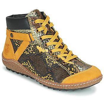 Chaussures Femme Boots Rieker LONGTER Jaune / Noir