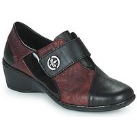 Chaussures Femme Mocassins Rieker HANTAR Noir / Bordeaux