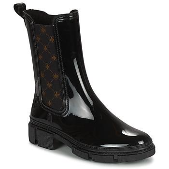 Chaussures Femme Bottes de pluie Rieker SHOTTA Noir
