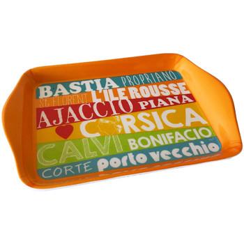 Maison & Déco Vides poches Corse Love Corsica Plateau vide poche en mélamine Orange