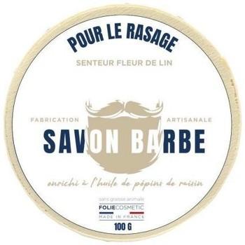 Beauté Femme Soins corps & bain Folie Cosmetic Savon barbe senteur fleur de lin   100g Blanc