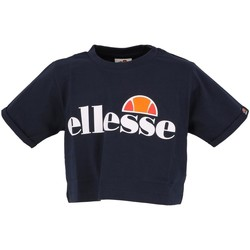 Vêtements Fille T-shirts manches courtes Ellesse Nicky marine girl teeshirt court Bleu marine / bleu nuit