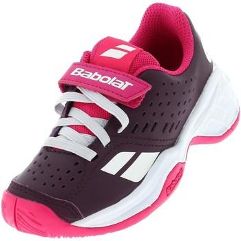 Chaussures Fille Tennis Babolat Pulsion ac kid velcro vlt Violet