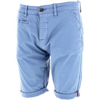 Vêtements Homme Shorts / Bermudas La Maison Blaggio Venili bleu short chino Bleu pétrole