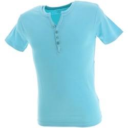 Vêtements Homme T-shirts manches courtes La Maison Blaggio Theo lt blue mc tee Bleu ciel