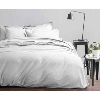 Maison & Déco Housses de couettes Home Collection Parure de housse de couette 240x220 coton COTÉ DECO Blanc