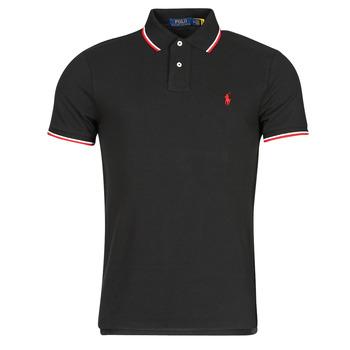 Vêtements Homme Polos manches courtes Chemise Cintree Slim Fit En CALMIRA Noir
