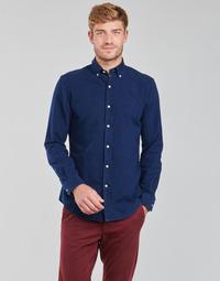 Vêtements Homme Chemises manches longues Polo Ralph Lauren TRENNYB Velours Bleu