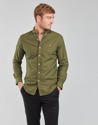 Vêtements Homme Chemises manches longues Polo Ralph Lauren DRISSY Kaki