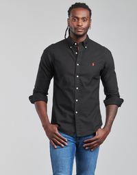 Vêtements Homme Chemises manches longues Polo Ralph Lauren CAMISETA Noir