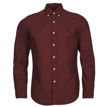 Vêtements Homme Chemises manches longues Polo Ralph Lauren KAOLMA Bordeaux