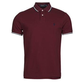 Vêtements Homme Polos manches courtes Polo Ralph Lauren HOULIA Bordeaux