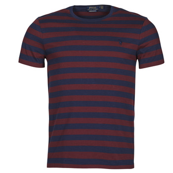 Vêtements Homme T-shirts manches courtes Polo Ralph Lauren POLINE Marine / Bordeaux