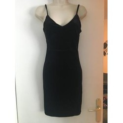 Vêtements Femme Robes courtes Autre Robe noire moulante en velours Noir