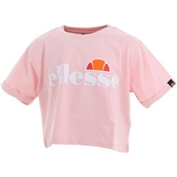 Vêtements Fille T-shirts manches courtes Ellesse Nicky rose girl teeshirt court Rose