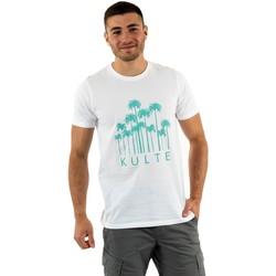 Vêtements Homme T-shirts manches courtes Kulte palms white blanc