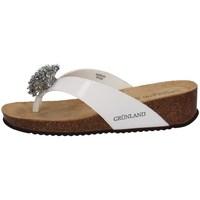 Chaussures Femme Slip ons Grunland CB1606 Blanc